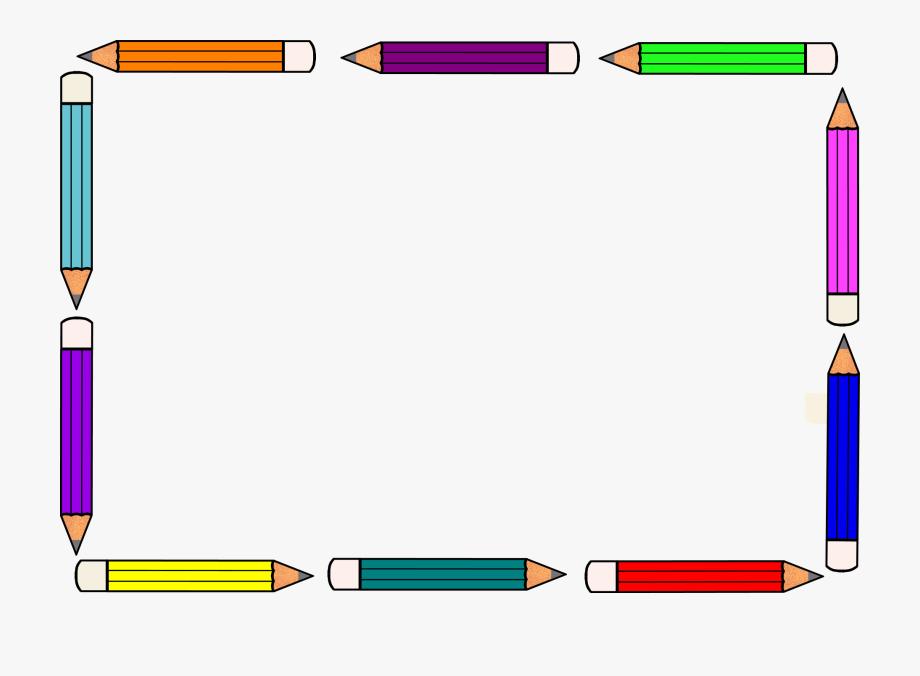 Crayon Clipart Classroom Borders.