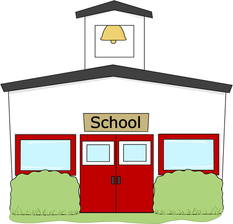 Cartoon School Building Clipart.