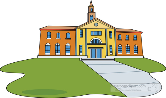 College Building Clipart.