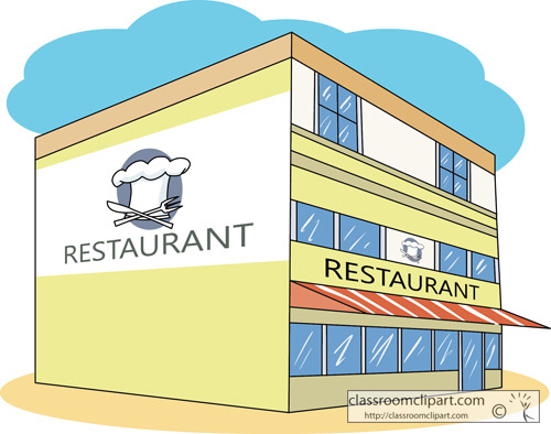 Restaurant Building Clipart.