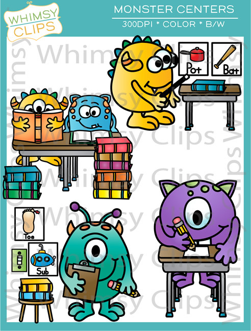 Monster Classroom Centers Clip Art , Images & Illustrations.