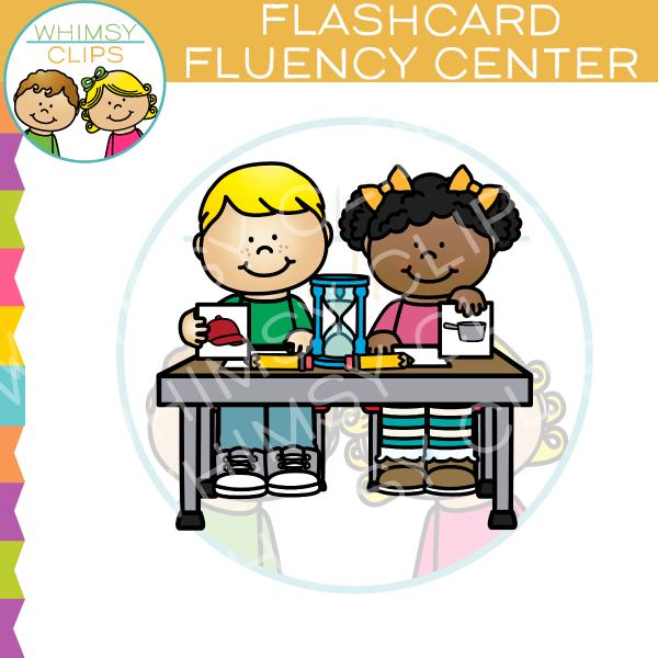 Flash Card Fluency Center Clip Art , Images & Illustrations.