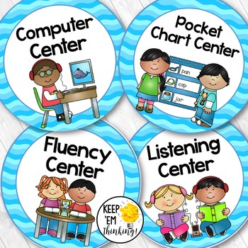 Classroom Centers Clipart.