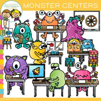 Monster Classroom Centers Clip Art.