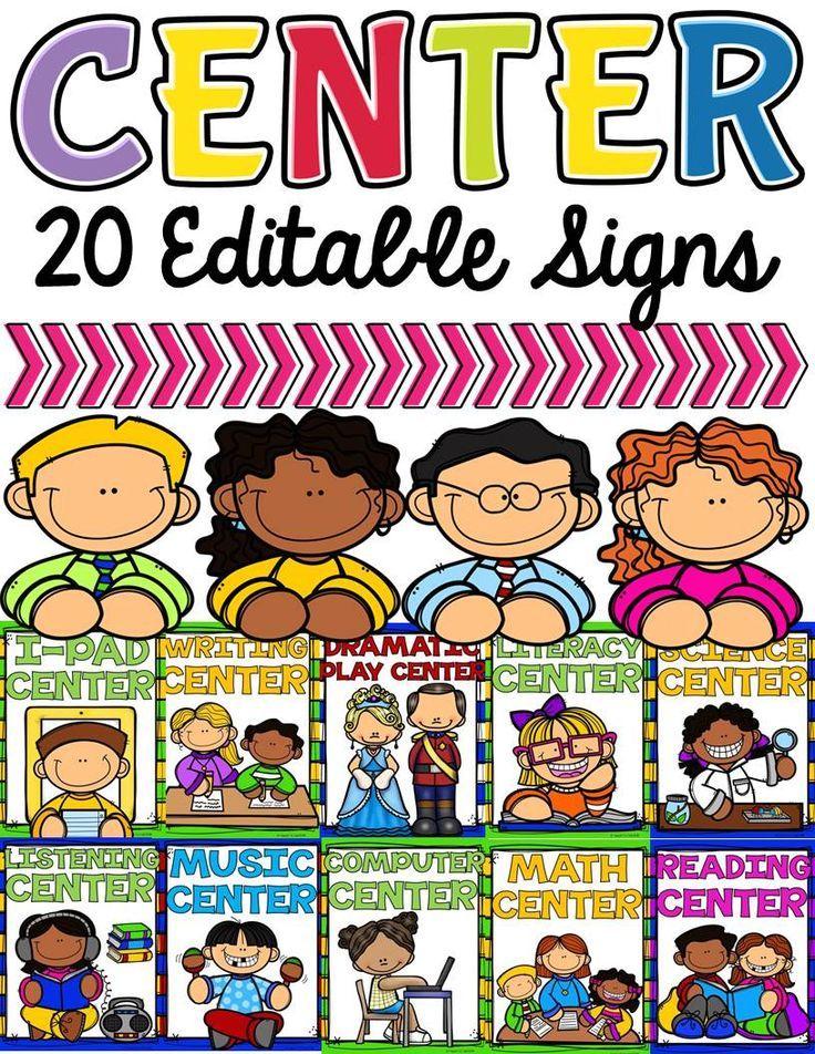 CLASS DECOR CENTER SIGNS: EDITABLE.