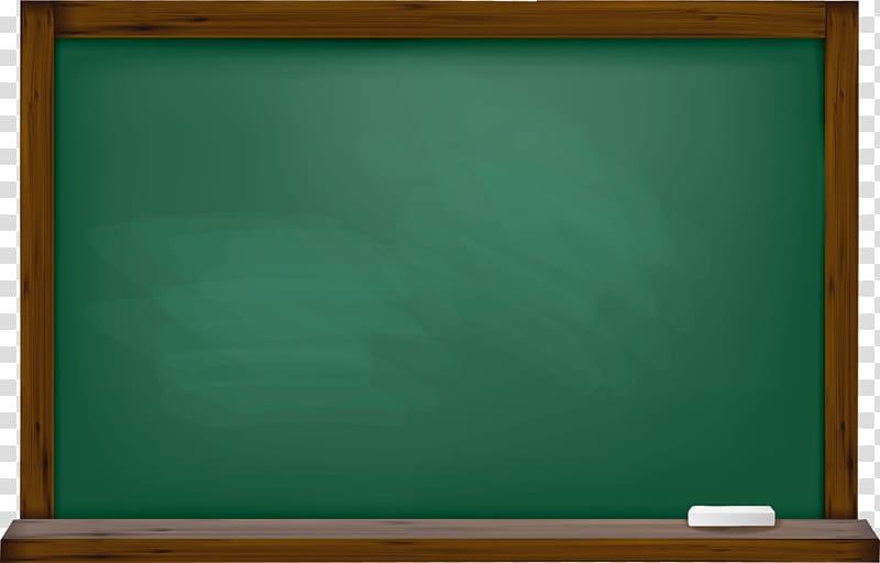 Brown wooden framed blackboard illustration, Microsoft.