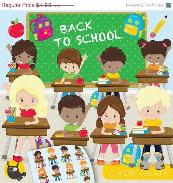 BUY 20 GET 10 OFF Classroom kids school clipart, clipart.