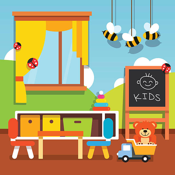 Best Preschool Classroom Illustrations, Royalty.