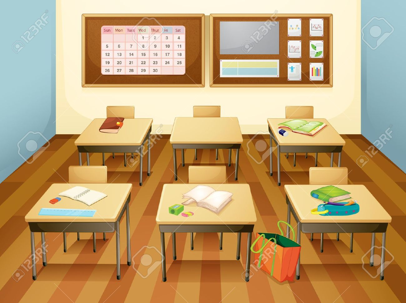 Free animated classroom clipart.