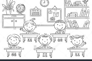 Classroom clipart black and white 3 » Clipart Station.