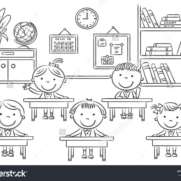 28+ Collection Of In The Classroom Clipart Black And White.