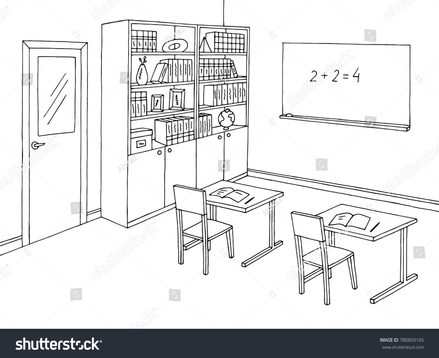 Classroom Clipart Black And White (97+ images in Collection) Page 1.