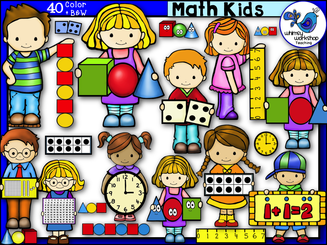 Math Kids Clip Art.