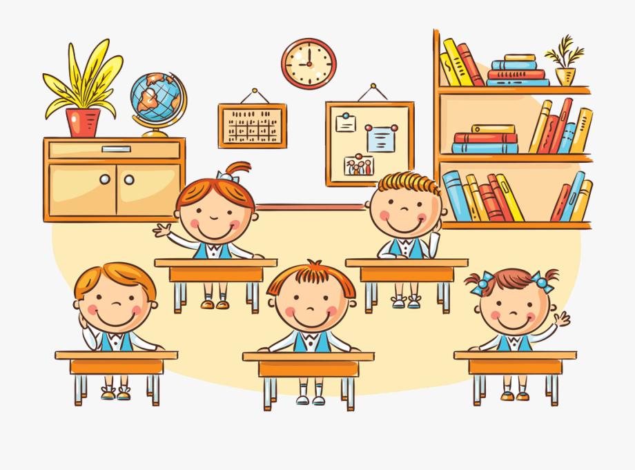 Student Classroom Cartoon Clip Art.
