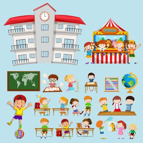 School scenes with kids in classroom.