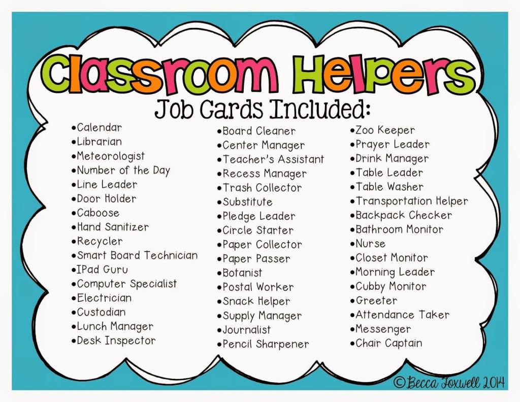 Classroom Job Swap Clipart.
