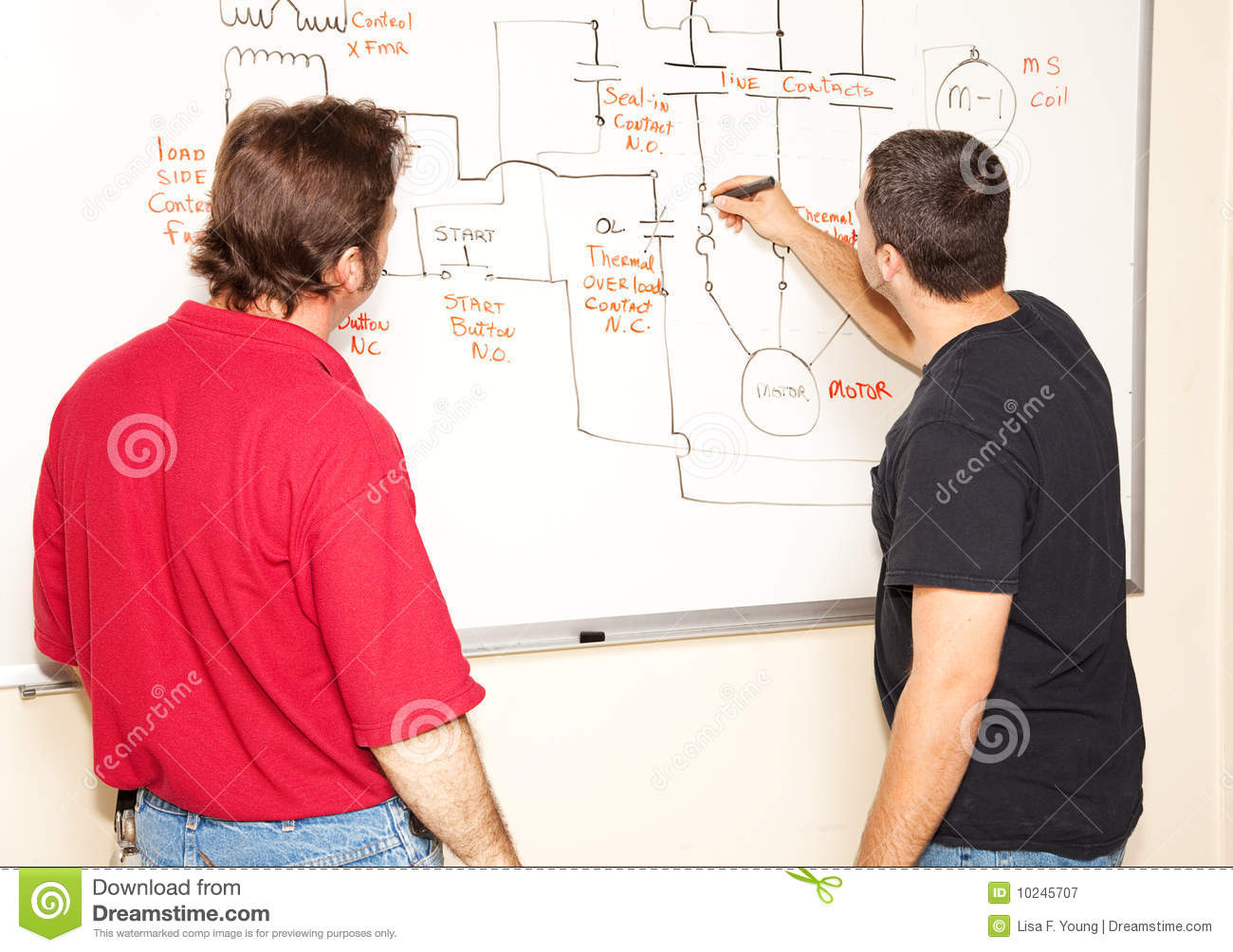 Electrical Engineering Class Royalty Free Stock Photography.
