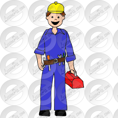 Electrician Picture for Classroom / Therapy Use.