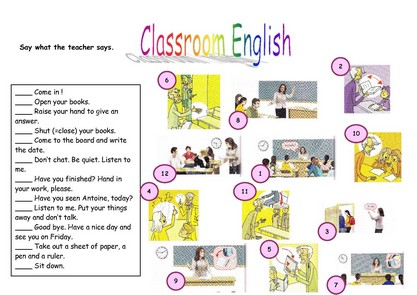 classroom english clipart - Clipground