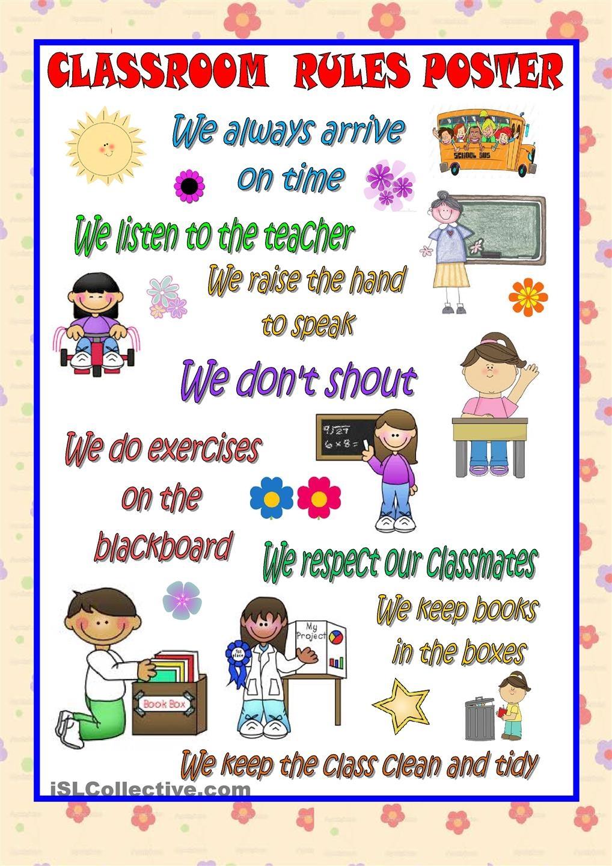 Classroom English Clipart.