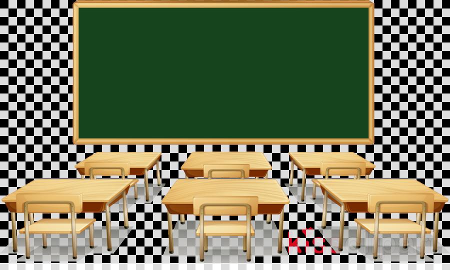 blackboard classroom table room furniture clipart.