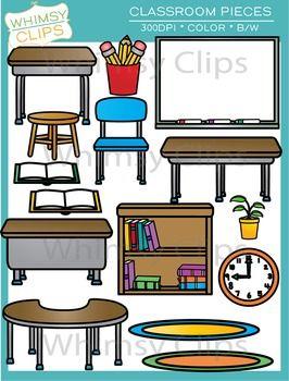 Classroom Furniture Clip Art.