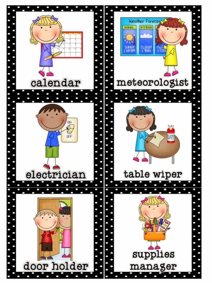 preschool classroom job chart clipart #17