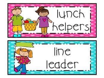 Classroom Helpers Clipart.