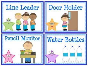 Star Helpers Classroom Jobs Display & Clip Chart.