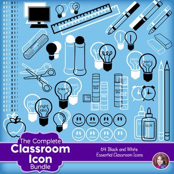 Classroom Icon Clipart.