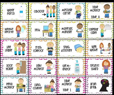 Free Preschool Job Chart Pictures.