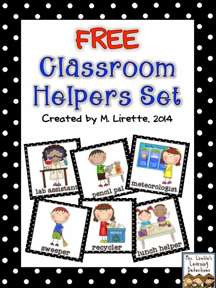 Mrs. Lirette's Learning Detectives: Classroom Helpers Set {FREE}.