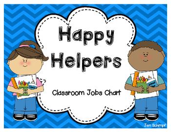 Happy Helpers Classroom Jobs Chart.