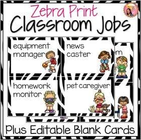 Classroom Job Charts.
