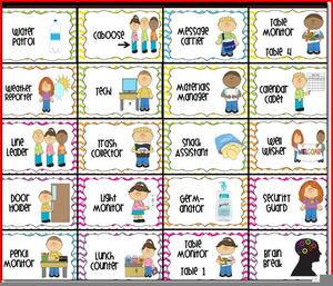 Free Classroom Job Chart Clipart.