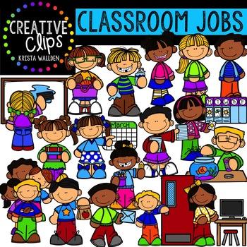 Classroom Jobs {Creative Clips Digital Clipart}.