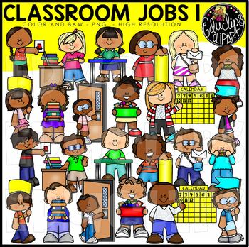 Classroom Jobs 1 Clip Art Set {Educlips Clipart}.