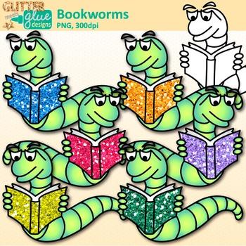Bookworm Clip Art: Classroom Library Graphics {Glitter Meets Glue}.