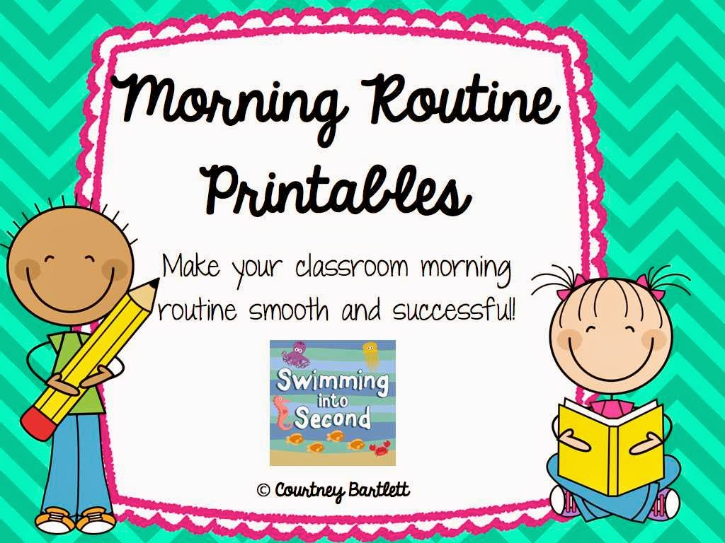 Swimming Into Second: M is for Morning Routines (ABCs of 2nd grade).