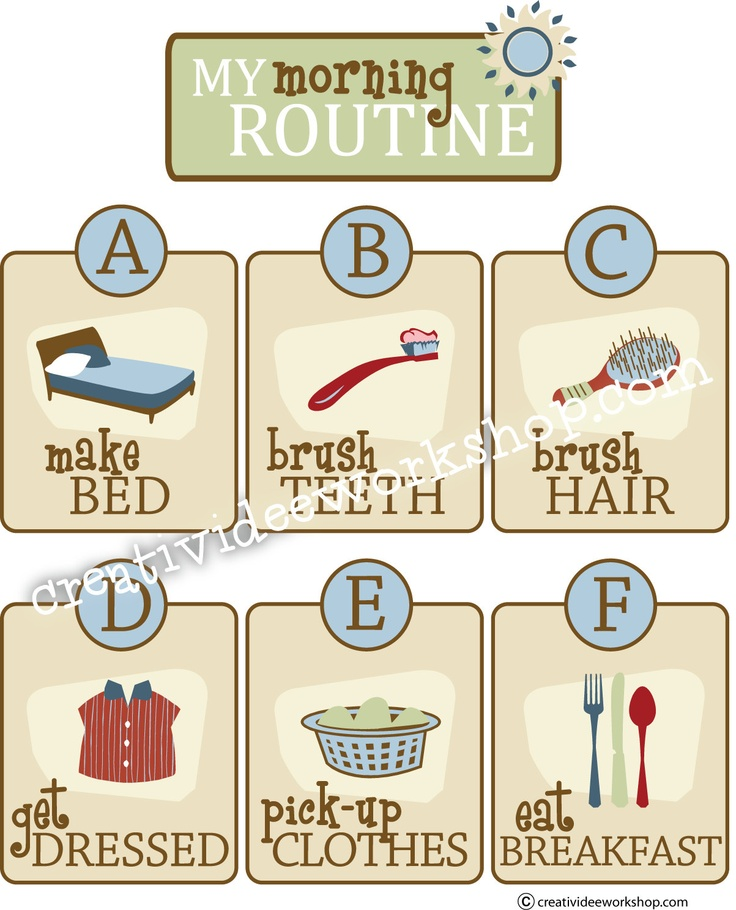 25+ best ideas about Morning Routine Chart on Pinterest.