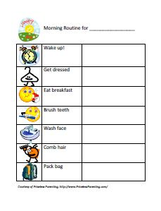 Free Printable Morning & Bedtime Routine Charts {That You Can Edit.