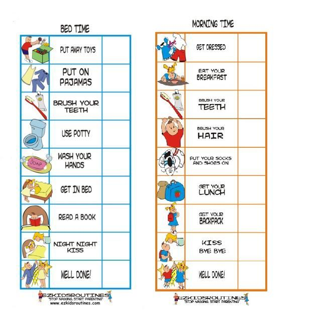 Classroom Morning Routine Clipart on My Bedtime Routine