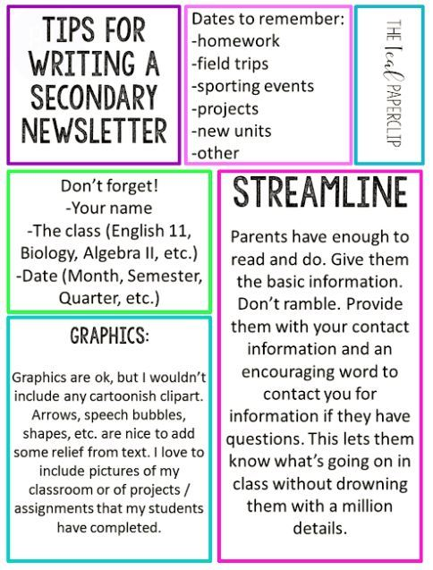 A New Take on Classroom Newsletters.