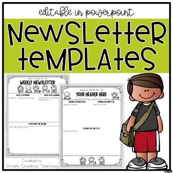 Editable Classroom Newsletter Templates Worksheets & Teaching.