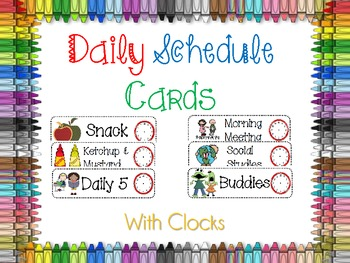 Classroom Daily Schedule Ca by Holly Wasilewski.
