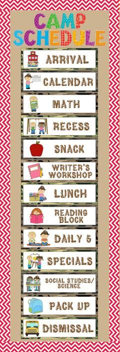 classroom picture schedule clipart