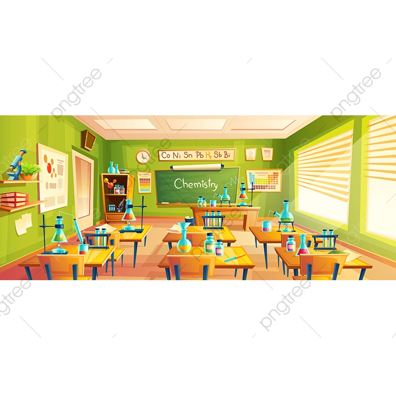 Vector Cartoon Illustration Of School Classroom, Background, Class.