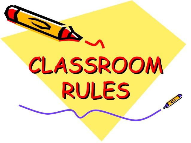 Classroom rules.