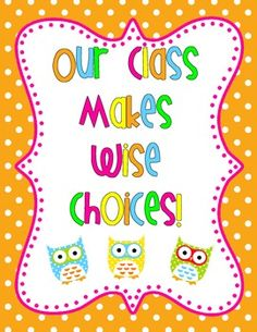 Owl Classroom Rules (current 5th graders would loveee this, as.
