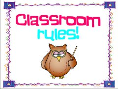 Seriously Cute Classroom Rules Posters.